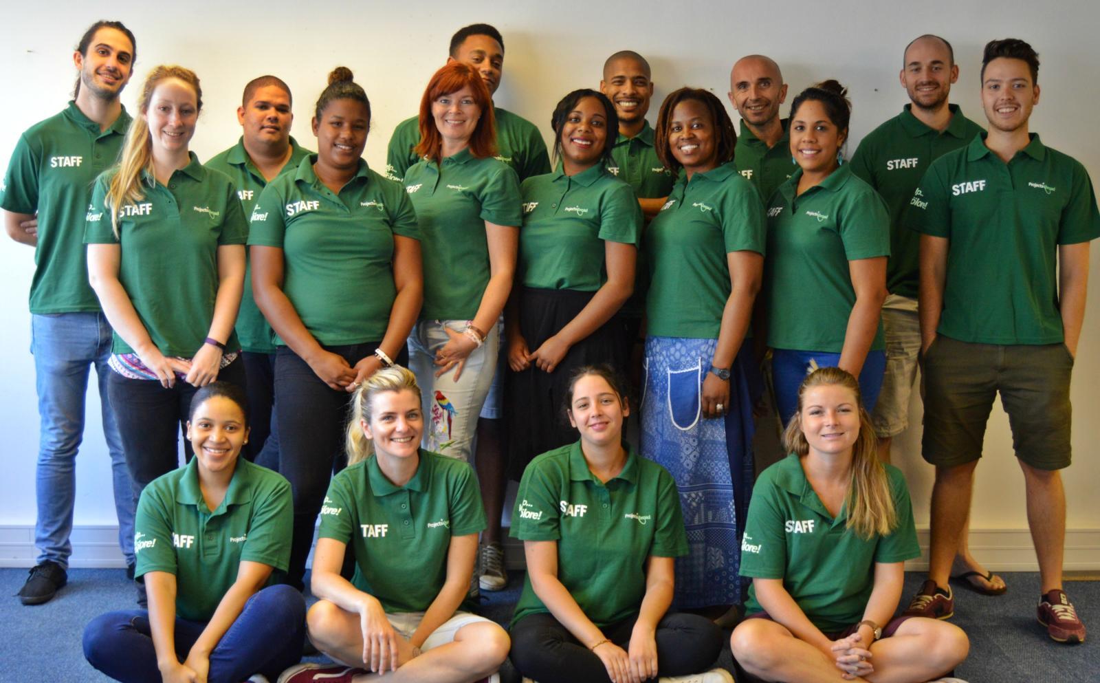 Asesores de Voluntarios, encargados de guiar a los voluntarios en los preparativos para su viaje de voluntariado.
